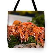 Langoustines At The Market Tote Bag