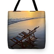 Lanikai Chairs At Sunrise Tote Bag