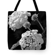 Lantana In Black And White Tote Bag
