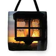 Lantern In The Sunset Tote Bag