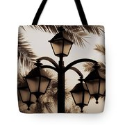 Lanterns And Fronds Tote Bag