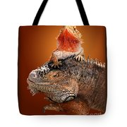 Lap Lizard Tote Bag by Jim Carrell