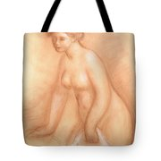 Large Bather Tote Bag by Pierre Auguste Renoir