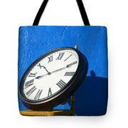 Large Clock On Yellow Chair Tote Bag