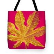 Large Leaf Photoart Tote Bag