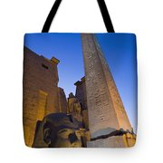 Large Pharaohs Head Statue And Obelisk Tote Bag