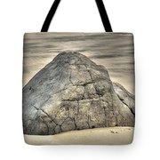 Large Rock On The Beach Tote Bag