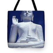 Large Seated White Buddha Tote Bag