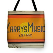Larrys Music  Est 1952 Tote Bag