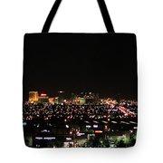 Las Vegas Nevada Nighttime Skyline Tote Bag
