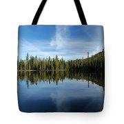 Lassen Summit Lake Reflections Tote Bag