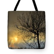 Last Light In The Storm Tote Bag
