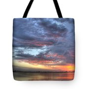 Last Light Over The Lake Tote Bag