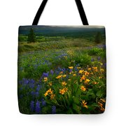 Last Light Over The Wenas Tote Bag