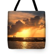 Late Afternoon Beach Walk Tote Bag