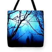 Late Full Moon Walk In The Wild Forest Tote Bag