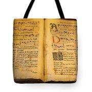 Latin Hymnal 1700 Ad Tote Bag