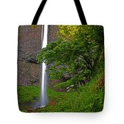 Latourell Falls Oregon - Posterized Tote Bag