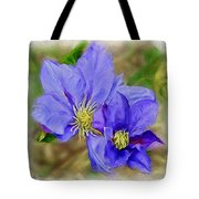 Lavendar Blue Tote Bag