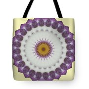 Lavender And Yellow Kaleidoscope Tote Bag