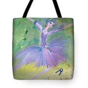 Lavender Ballerina Tote Bag