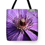 Lavender Clematis Tote Bag
