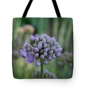 Lavender Flowering Onion Tote Bag