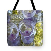 Lavender Wine Glasses Tote Bag