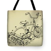 Lawnmower Tricycle Patent Tote Bag