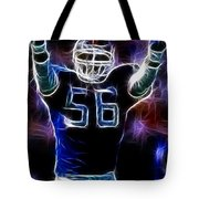 Lawrence Taylor  Tote Bag by Paul Ward