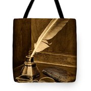 Lawyer - The Brief Starts Here - Black And White Tote Bag