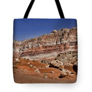 Layered Cliffs Tote Bag