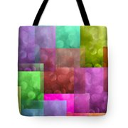 Layered Tiles Abstract Tote Bag
