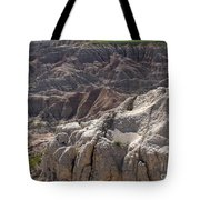 Layers Of Rock In The Badlands Tote Bag