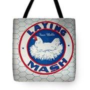 Laying Mash Tote Bag