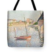 Le Clipper - Asnieres Tote Bag by Paul Signac