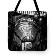 Leadenhall Market Black And White Tote Bag
