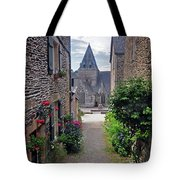 Leading To The Church Provence France Tote Bag