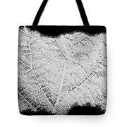 Leaf Design- Black And White Tote Bag