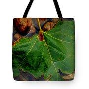 Leaf In The River Tote Bag