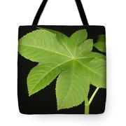 Leaf Of Castor Bean Plant Tote Bag