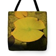 Leaf On A Pond Tote Bag