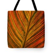 Leaf Pattern Abstract Tote Bag