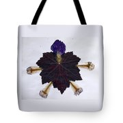 Leaf With Petals Tote Bag