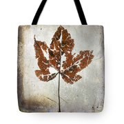 Leaf  With Textured Effect Tote Bag