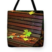 Leafs In Bench Tote Bag