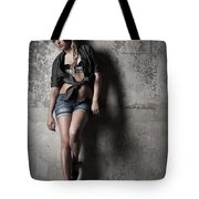 Lean Against The Wall Tote Bag