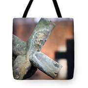 Leaning Cross At Cemetery Tote Bag