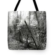 Leaning Fence Tote Bag