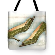 Leapin Green Lizards Pumps Tote Bag